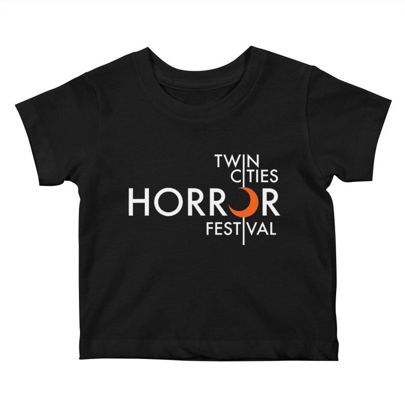 TC Horror Fest Logo Merchandise White Lettering Kids Baby T-Shirt by Twin Cities Horror Festival Merchandise
