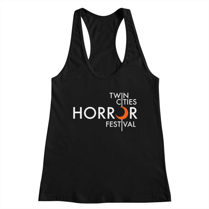 TC Horror Fest Logo Merchandise White Lettering Women's Tank by Twin Cities Horror Festival Merchandise