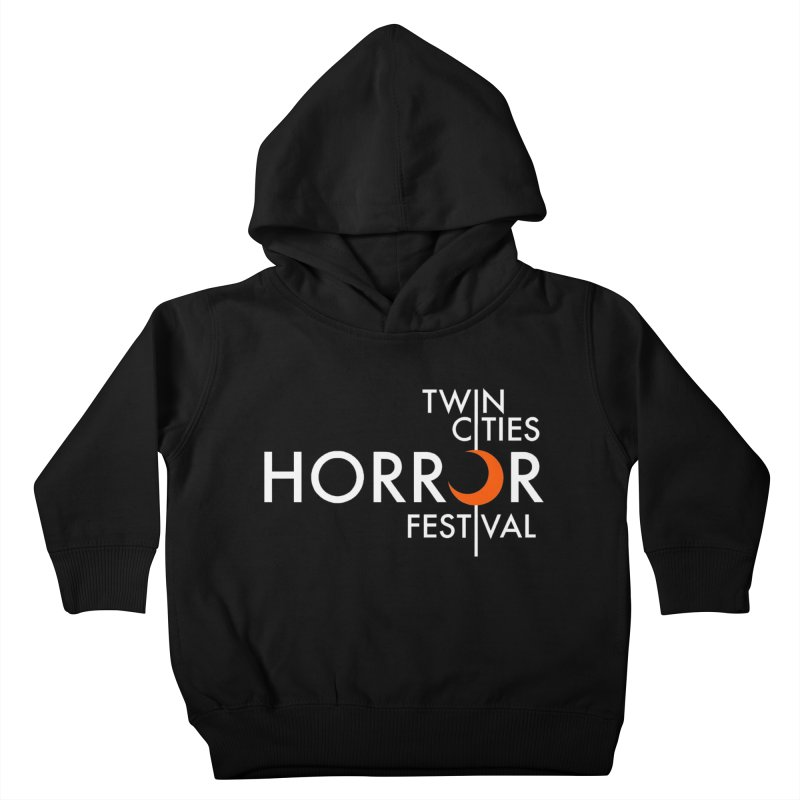 TC Horror Fest Logo Merchandise White Lettering Kids Toddler Pullover Hoody by Twin Cities Horror Festival Merchandise