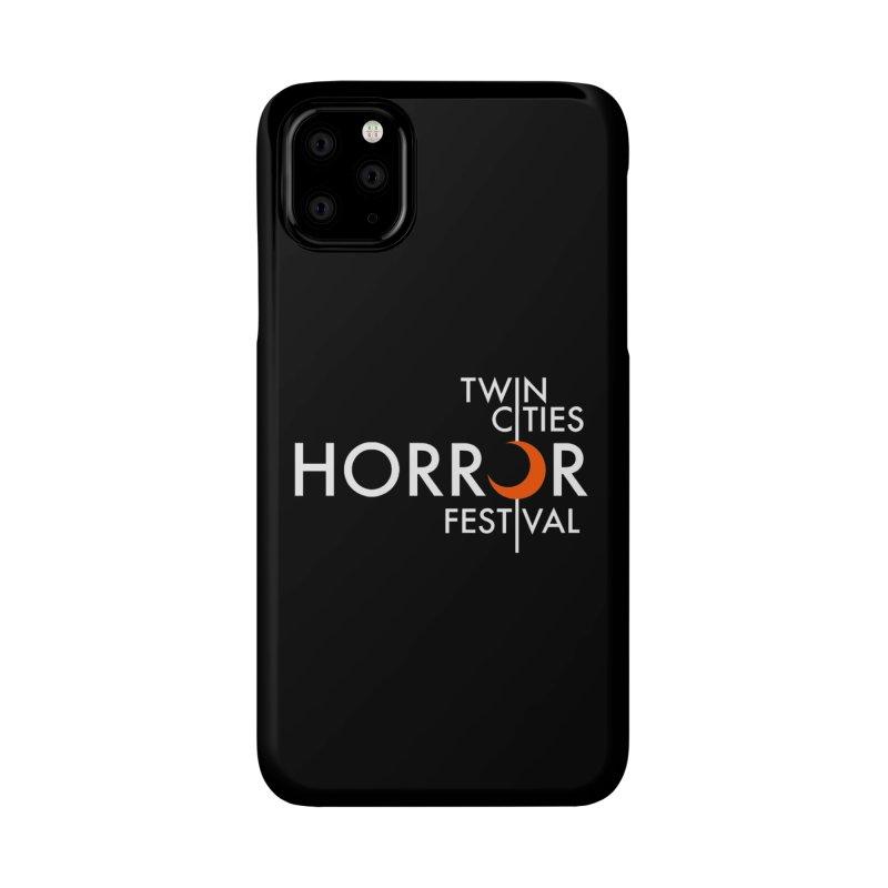 TC Horror Fest Logo Merchandise White Lettering Accessories Phone Case by Twin Cities Horror Festival Merchandise