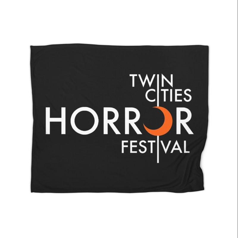 TC Horror Fest Logo Merchandise White Lettering Home Blanket by Twin Cities Horror Festival Merchandise