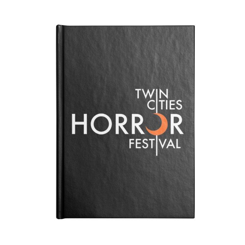 TC Horror Fest Logo Merchandise White Lettering Accessories Notebook by Twin Cities Horror Festival Merchandise