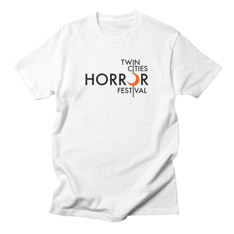 TC Horror Fest Logo Merchandise Black Lettering Men's T-Shirt by Twin Cities Horror Festival Merchandise