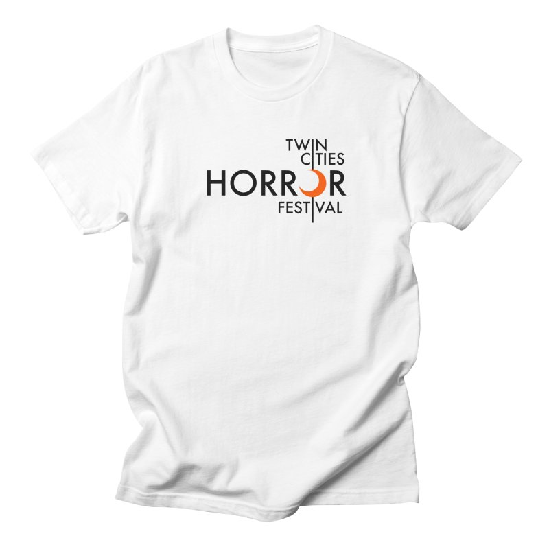 TC Horror Fest Logo Merchandise Black Lettering Men's T-Shirt by Twin Cities Horror Festival Merchandise