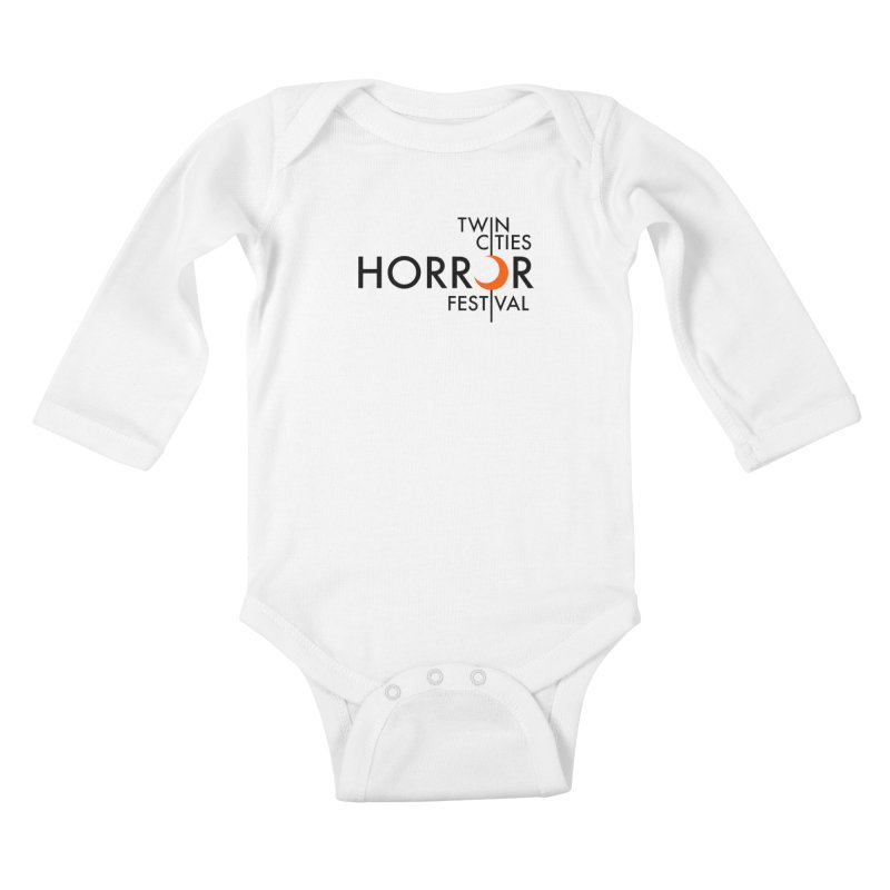 TC Horror Fest Logo Merchandise Black Lettering Kids Baby Longsleeve Bodysuit by Twin Cities Horror Festival Merchandise