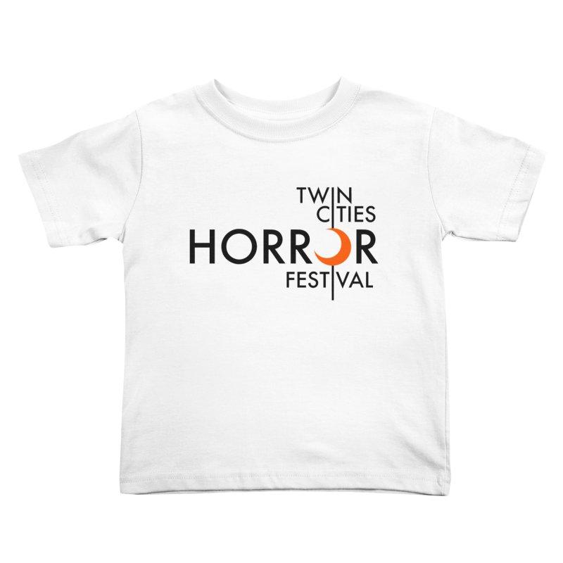 TC Horror Fest Logo Merchandise Black Lettering Kids Toddler T-Shirt by Twin Cities Horror Festival Merchandise