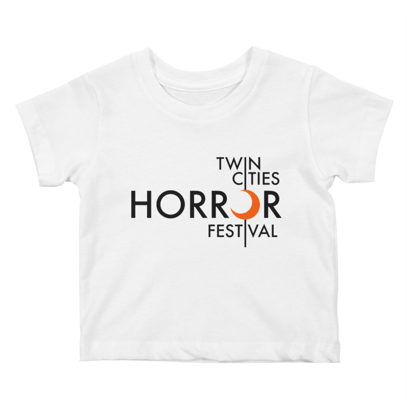 TC Horror Fest Logo Merchandise Black Lettering Kids Baby T-Shirt by Twin Cities Horror Festival Merchandise