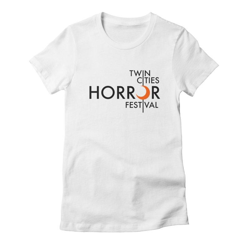 TC Horror Fest Logo Merchandise Black Lettering Women's T-Shirt by Twin Cities Horror Festival Merchandise