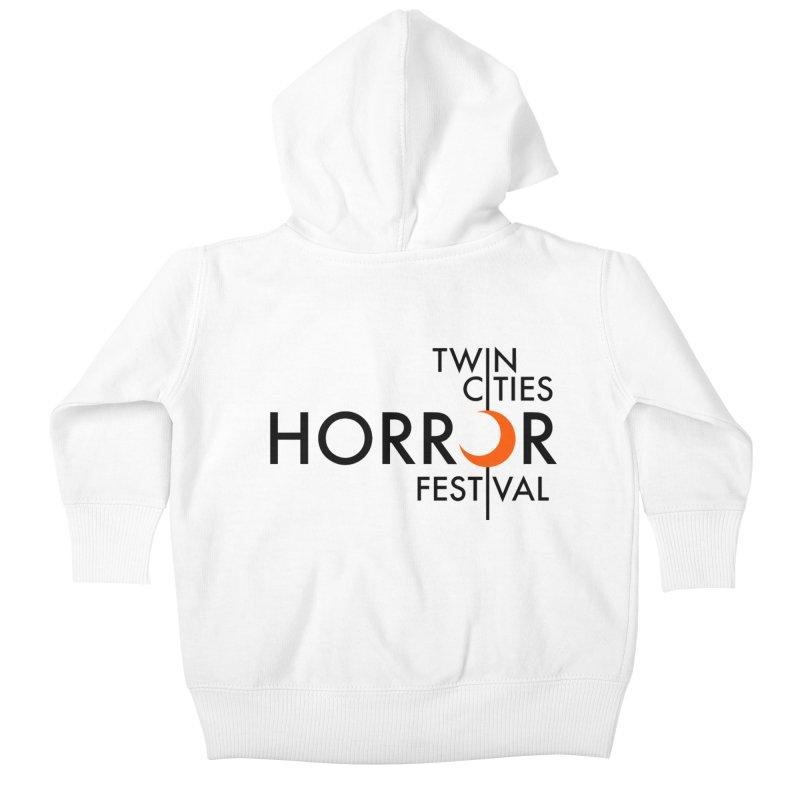 TC Horror Fest Logo Merchandise Black Lettering Kids Baby Zip-Up Hoody by Twin Cities Horror Festival Merchandise