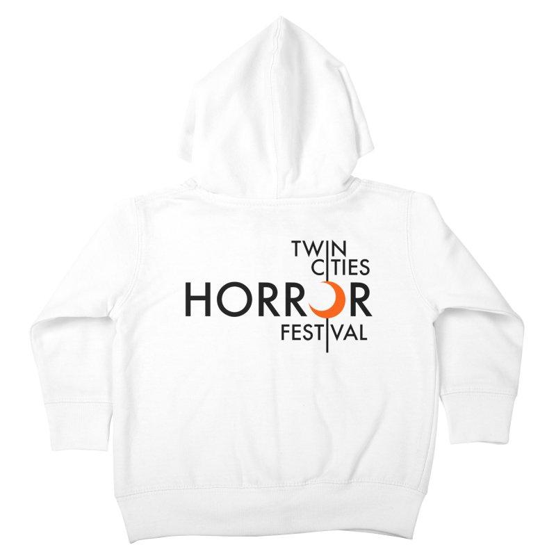 TC Horror Fest Logo Merchandise Black Lettering Kids Toddler Zip-Up Hoody by Twin Cities Horror Festival Merchandise