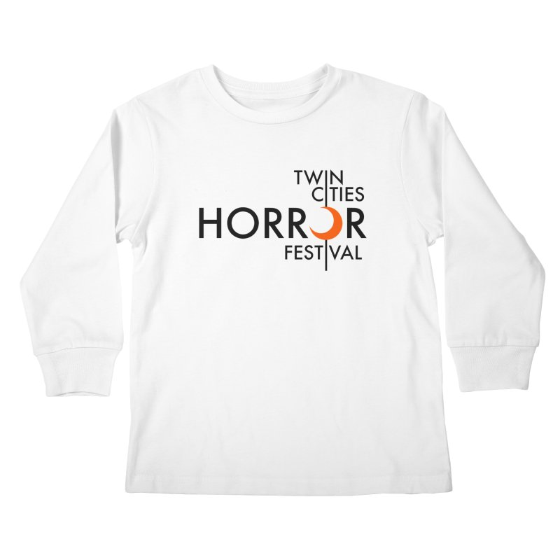 TC Horror Fest Logo Merchandise Black Lettering Kids Longsleeve T-Shirt by Twin Cities Horror Festival Merchandise