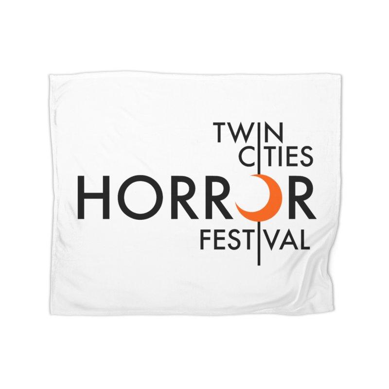 TC Horror Fest Logo Merchandise Black Lettering Home Blanket by Twin Cities Horror Festival Merchandise