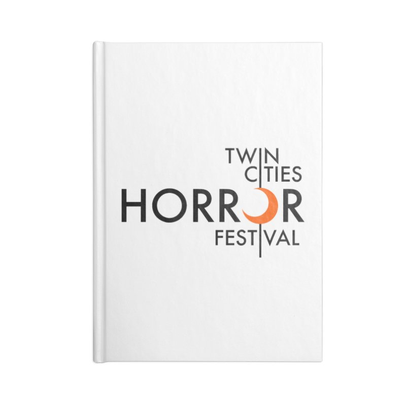 TC Horror Fest Logo Merchandise Black Lettering Accessories Notebook by Twin Cities Horror Festival Merchandise