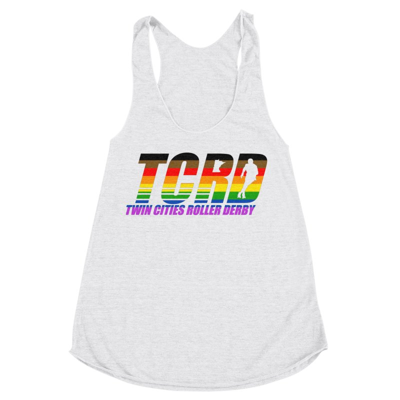 TCRD Pride Women's Racerback Triblend Tank by tcrd's Artist Shop