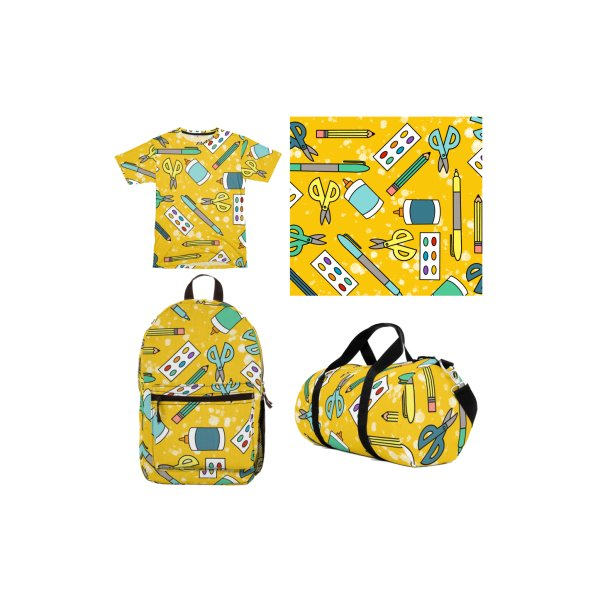 image for Mustard School Supply All-Over Print
