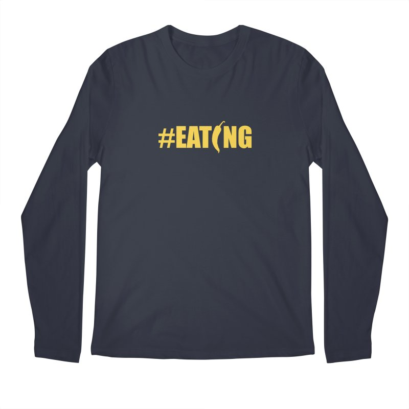 #EATING Hot Pepper in Men's Longsleeve T-Shirt Midnight by Plant a Seed