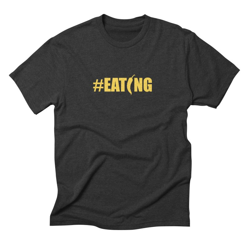 #EATING Hot Pepper Men's Triblend T-Shirt by Plant a Seed