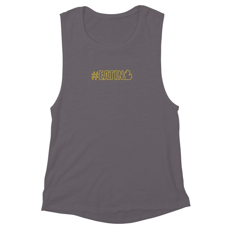 #EATING (MI outline) Women's Muscle Tank by Plant a Seed