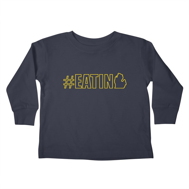 #EATING (MI outline) Kids Toddler Longsleeve T-Shirt by Plant a Seed