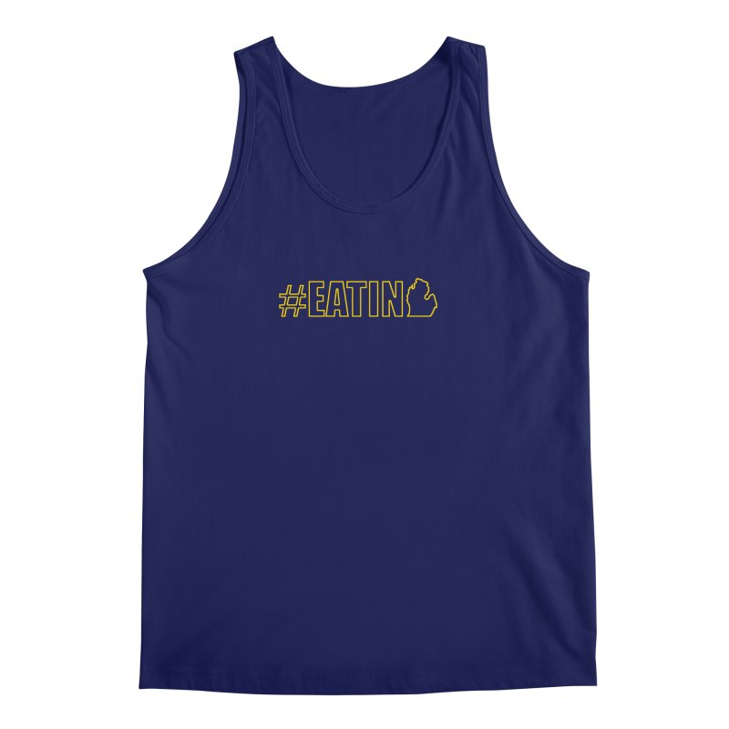 #EATING (MI outline) Men's Regular Tank by Plant a Seed