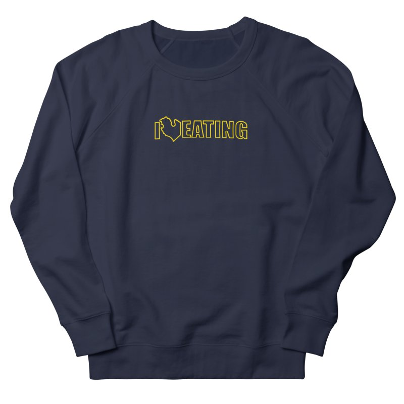 I <3 EATING oultine Men's Sweatshirt by Plant a Seed