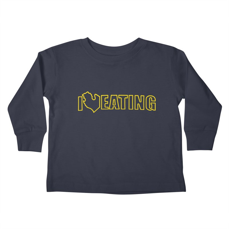 I <3 EATING oultine Kids Toddler Longsleeve T-Shirt by Plant a Seed