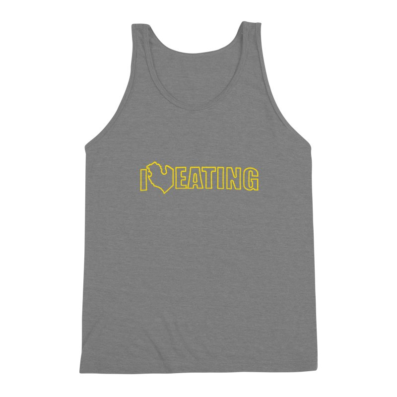 I <3 EATING oultine Men's Triblend Tank by Plant a Seed
