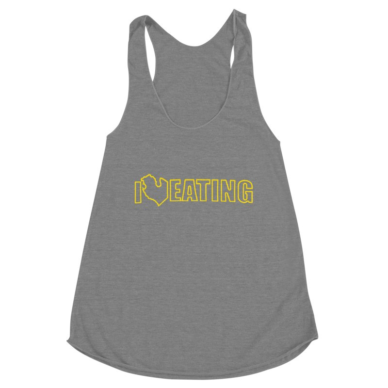 I <3 EATING oultine Women's Racerback Triblend Tank by Plant a Seed