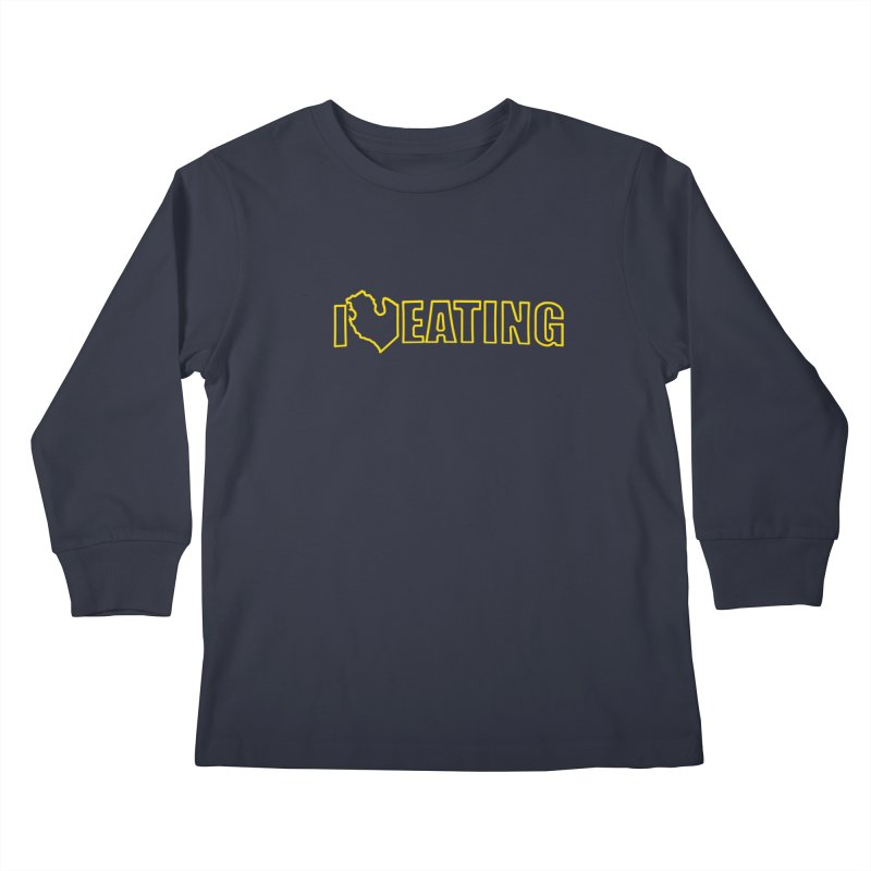 I <3 EATING oultine Kids Longsleeve T-Shirt by Plant a Seed