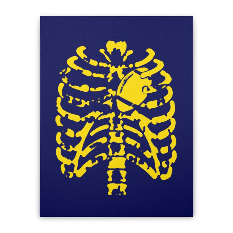 Football heart Home Stretched Canvas by Plant a Seed