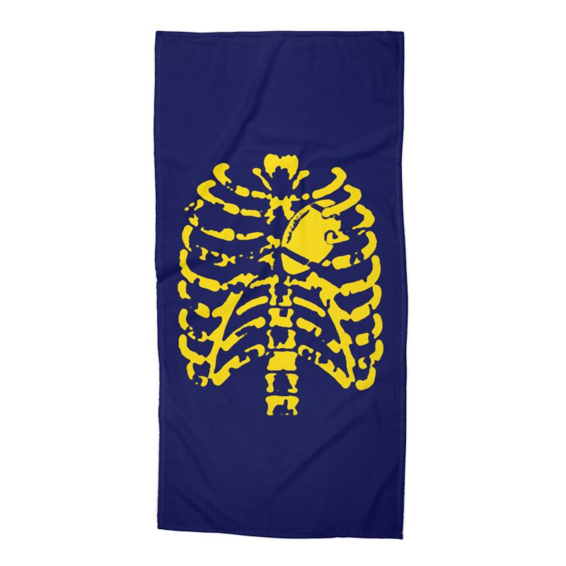 Football heart Accessories Beach Towel by Plant a Seed