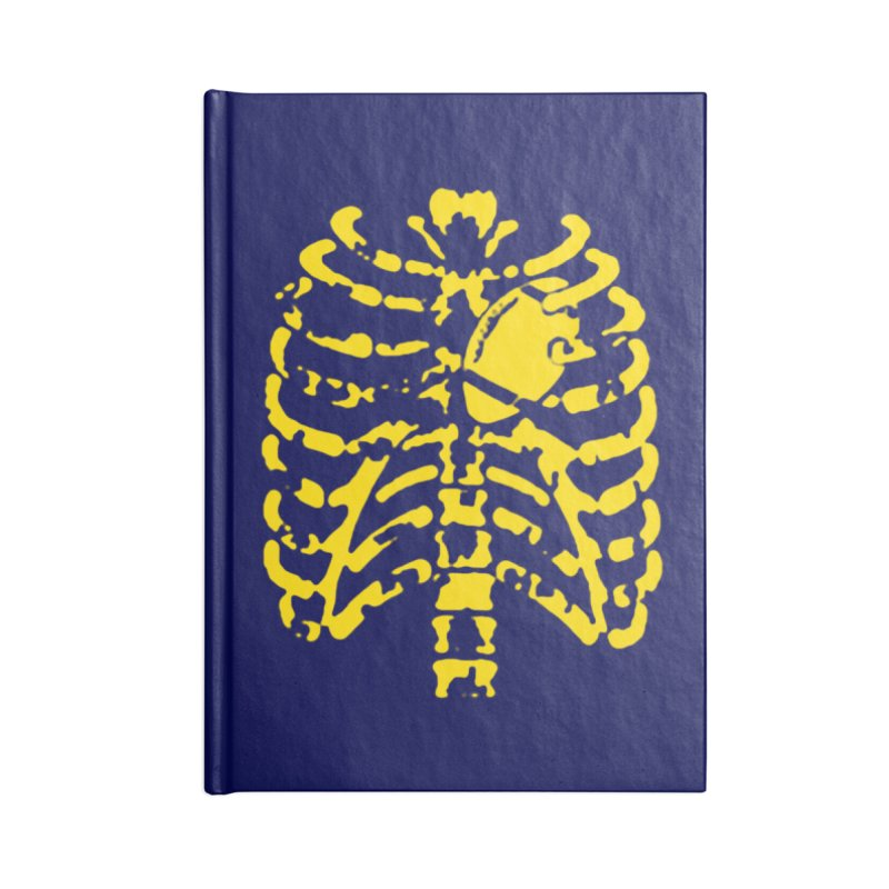 Football heart Accessories Lined Journal Notebook by Plant a Seed