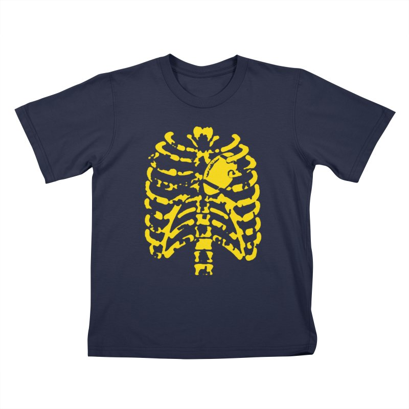 Football heart Kids T-Shirt by Plant a Seed