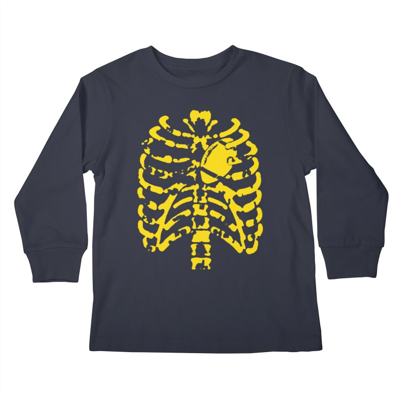 Football heart Kids Longsleeve T-Shirt by Plant a Seed