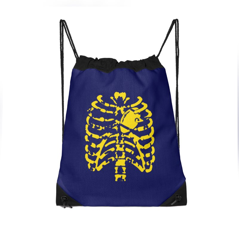 Football heart Accessories Drawstring Bag Bag by Plant a Seed