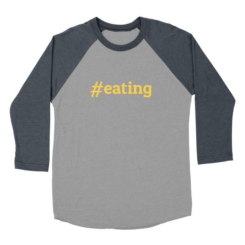 #EATING (modern) Men's Baseball Triblend T-Shirt by Plant a Seed
