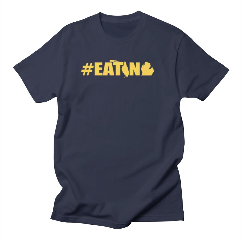 FL TO MI #EATING in Men's Regular T-Shirt Navy by Plant a Seed