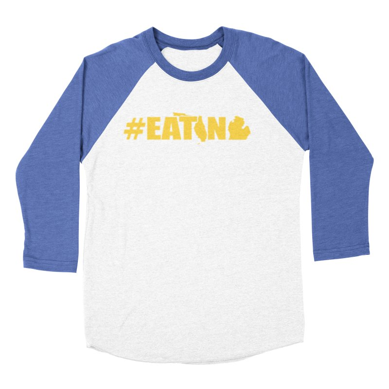FL TO MI #EATING Women's Baseball Triblend Longsleeve T-Shirt by Plant a Seed