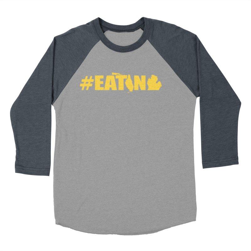 FL TO MI #EATING Men's Baseball Triblend Longsleeve T-Shirt by Plant a Seed