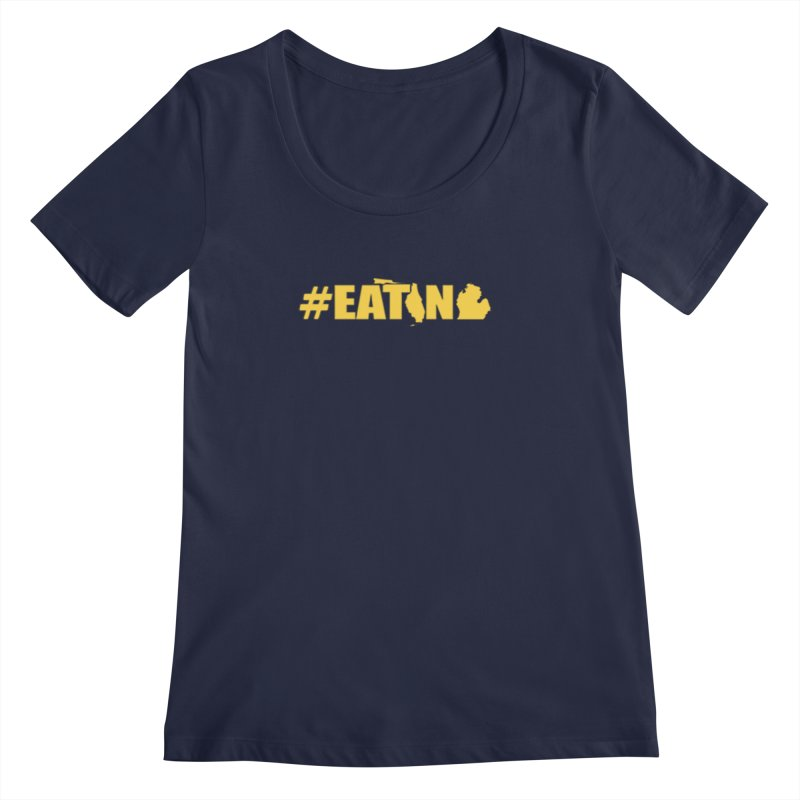 FL TO MI #EATING Women's Regular Scoop Neck by Plant a Seed