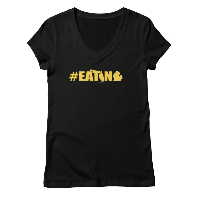 FL TO MI #EATING Women's V-Neck by Plant a Seed
