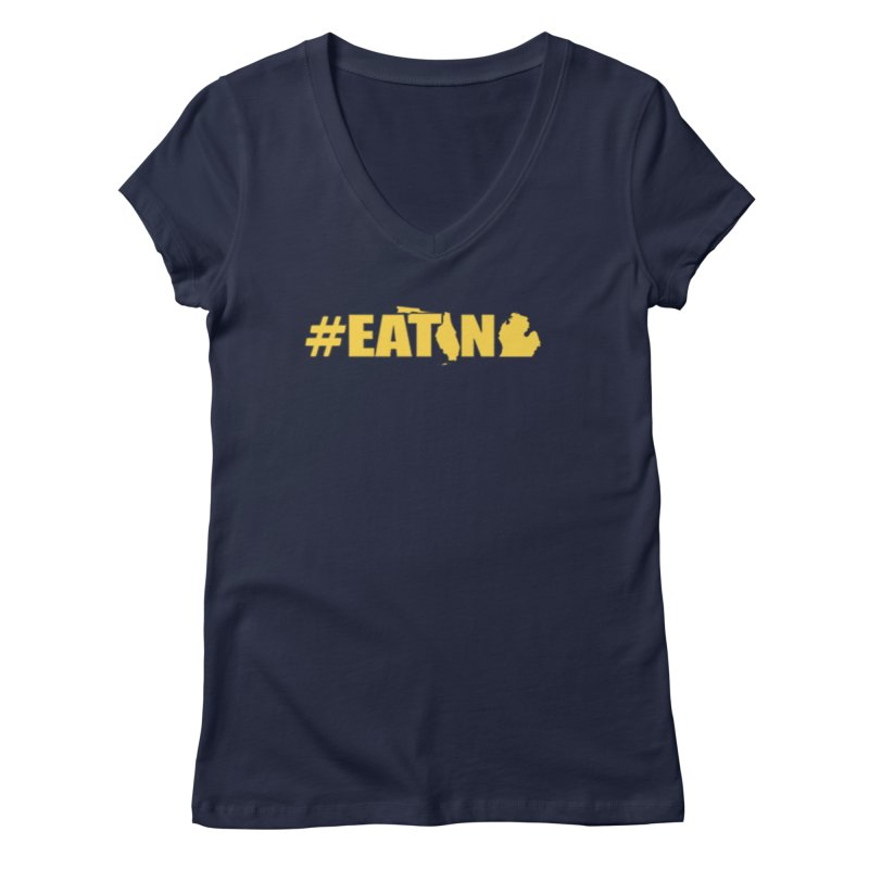 FL TO MI #EATING Women's Regular V-Neck by Plant a Seed
