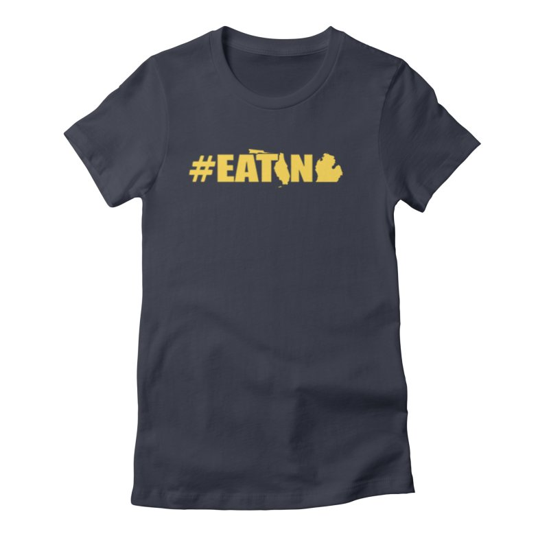 FL TO MI #EATING Women's Fitted T-Shirt by Plant a Seed