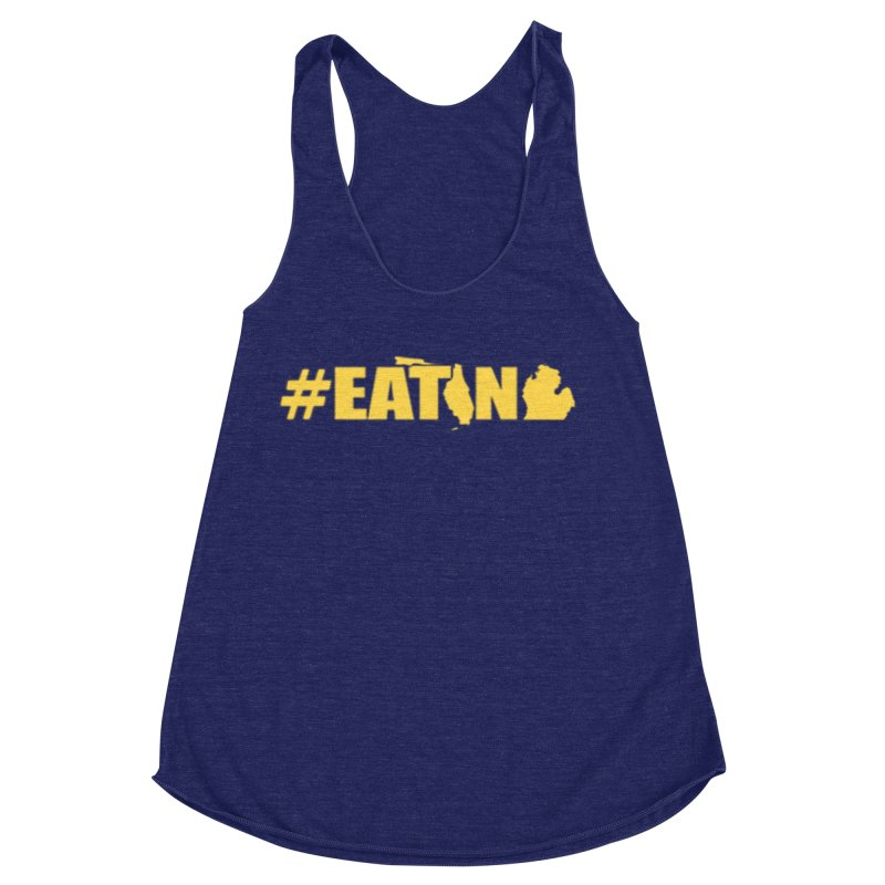 FL TO MI #EATING Women's Racerback Triblend Tank by Plant a Seed