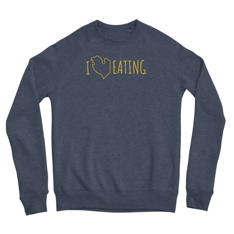 I MI EATING Men's Sponge Fleece Sweatshirt by Plant a Seed