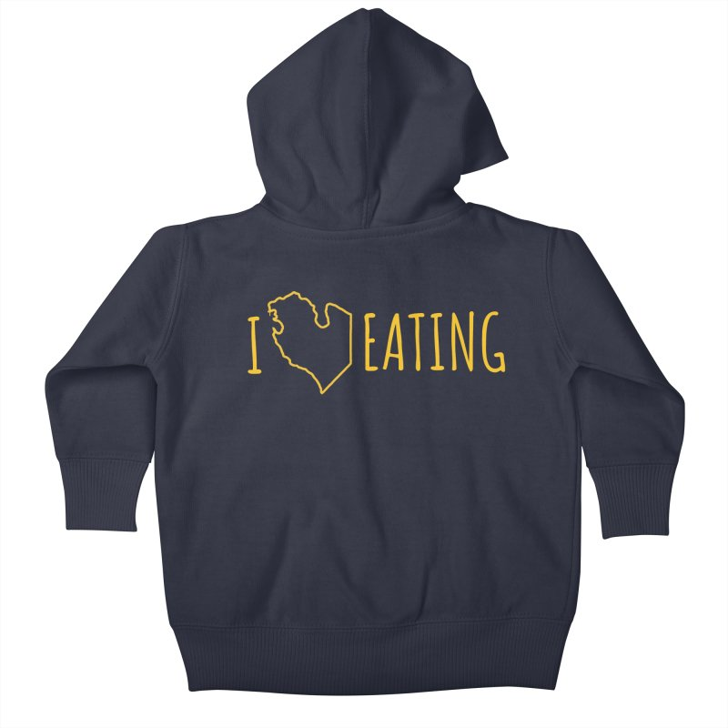 I MI EATING Kids Baby Zip-Up Hoody by Plant a Seed