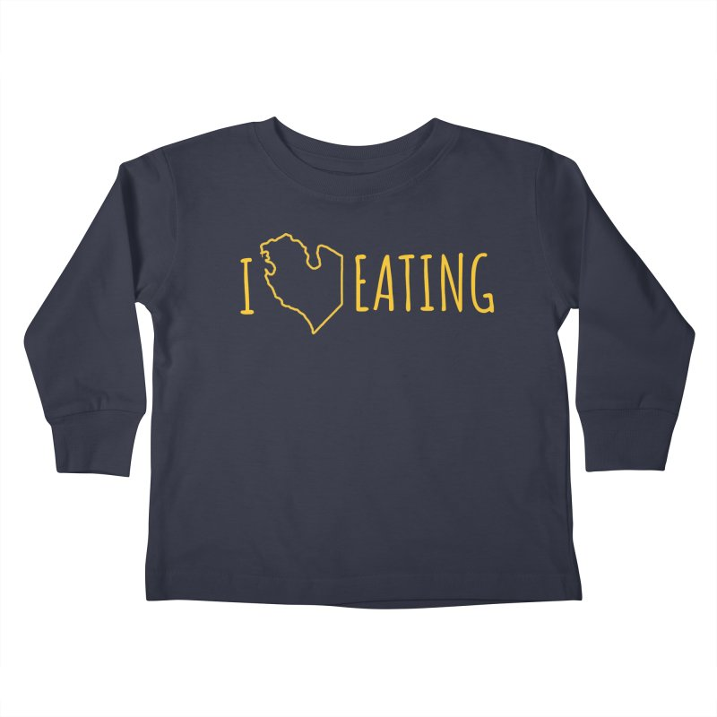 I MI EATING Kids Toddler Longsleeve T-Shirt by Plant a Seed