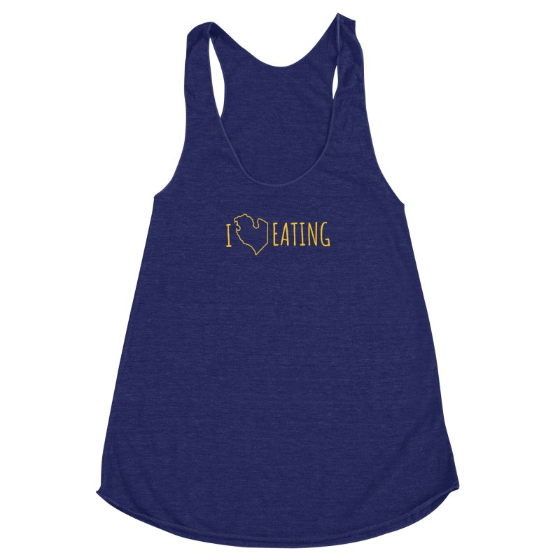 I MI EATING Women's Racerback Triblend Tank by Plant a Seed