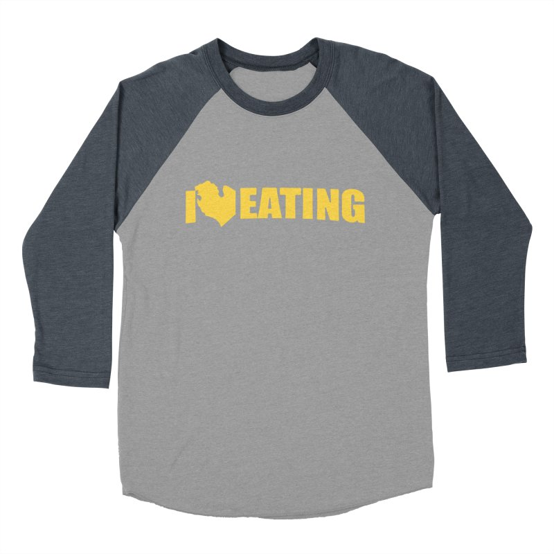 I <3 MI EATING Women's Baseball Triblend T-Shirt by Plant a Seed