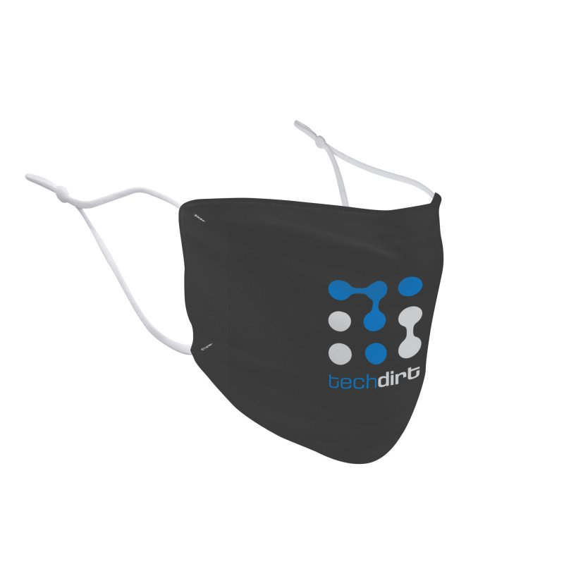 Big Techdirt Logo Accessories Face Mask by Techdirt Gear